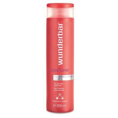 Восстанавливающий кондиционер для осветленных волос  WUNDERBAR Color Protection Silver Conditioner