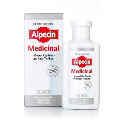 Тоник против желтизны седых волос Alpecin Medicinal Silver