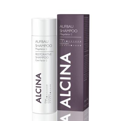 Шампунь для восстановления структуры сухих и поврежденных волос Alcina Restorative Shampoo Carefactor 2