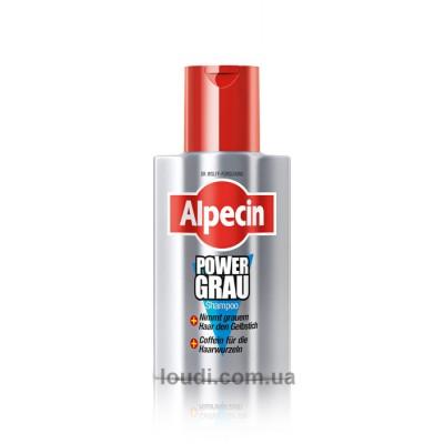 Шампунь для камуфлирования желтой седины  Alpecin Shampoo Power Grey