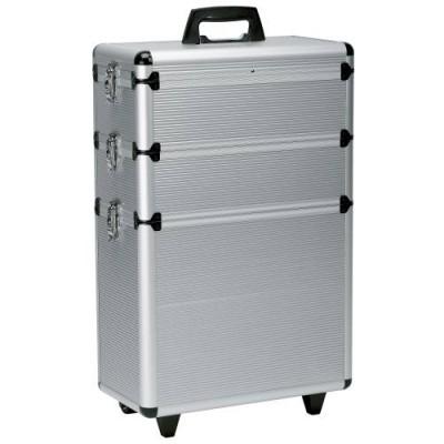 Кейс для парикмахерских инструментов алюминиевый трехсекционный Original Best Buy Aluminum Case With 3 Storage Level