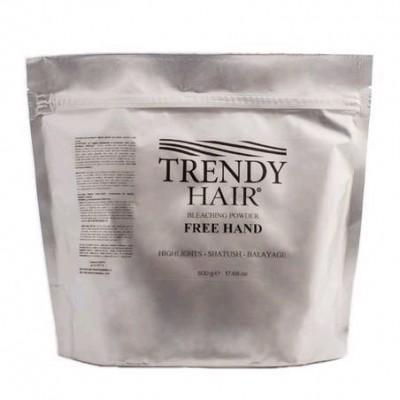 Осветляющая пудра для балаяжа Trendy Hair Bleaching Powder Invisible Free Hand