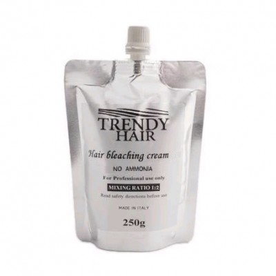 Осветляющий крем для волос малоаммиачный Trendy Hair Bleaching Cream