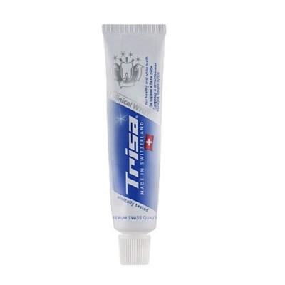 Зубная паста отбеливающая мини - для путешествий Trisa Toothpaste Clinical White Mini