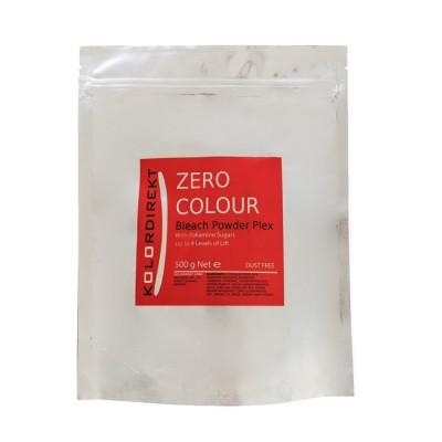 Обесцвечивающая до 10 тонов пудра ЗероКолор Kolordirekt Zero Colour Bleach Powder Plex Dust Free With Poliamino Sugars